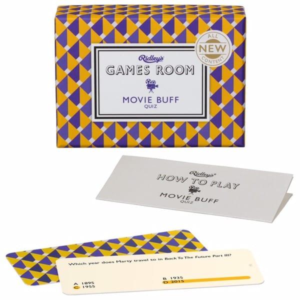 Movie Buff Quiz Card Game