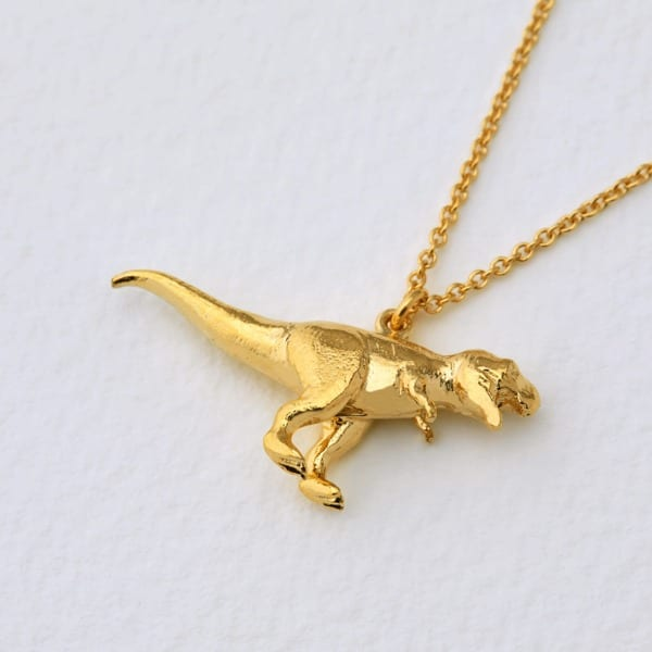 Alex Monroe T Rex Necklace