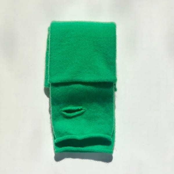 Moray Cashmere Green Wrist Warmers