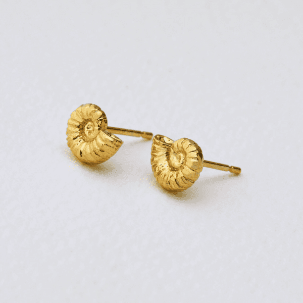 Alex Monroe gold plated Ammonite Earrings