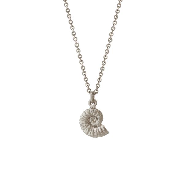 Alex Monroe fossil Ammonite silver necklace