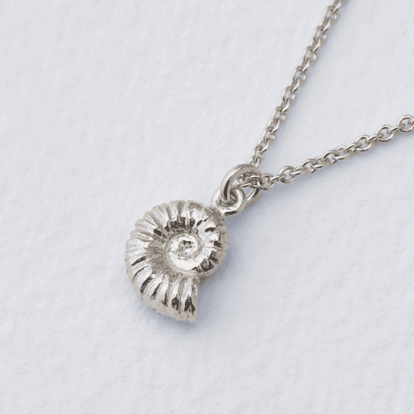 Alex Monroe fossil Ammonite silver necklace