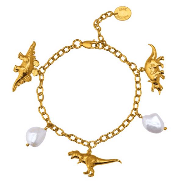 Alex Monroe Dinosaur Charm Bracelet