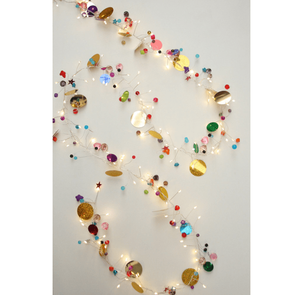 Colourful bead and decoration light chain