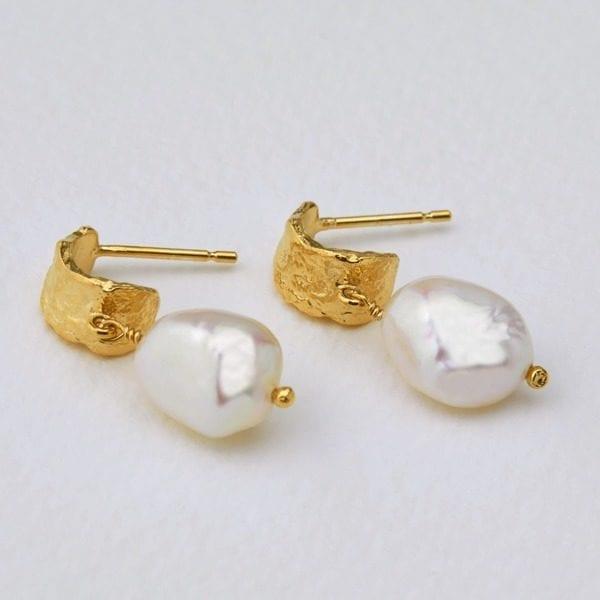 Alex Monroe fresh water pearl earrings