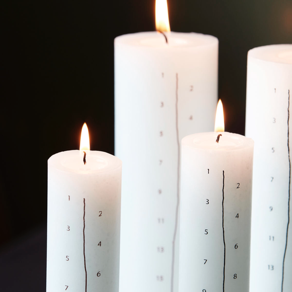 White Advent Candle