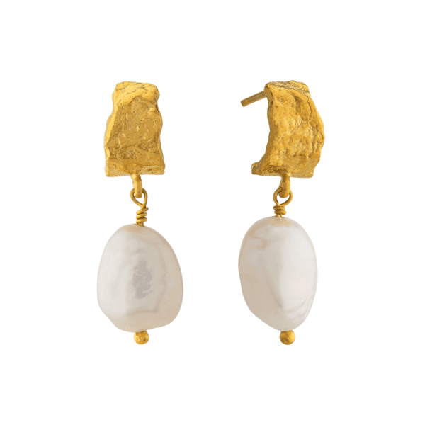 Alex Monroe Baroque Fresh water pearl earrings