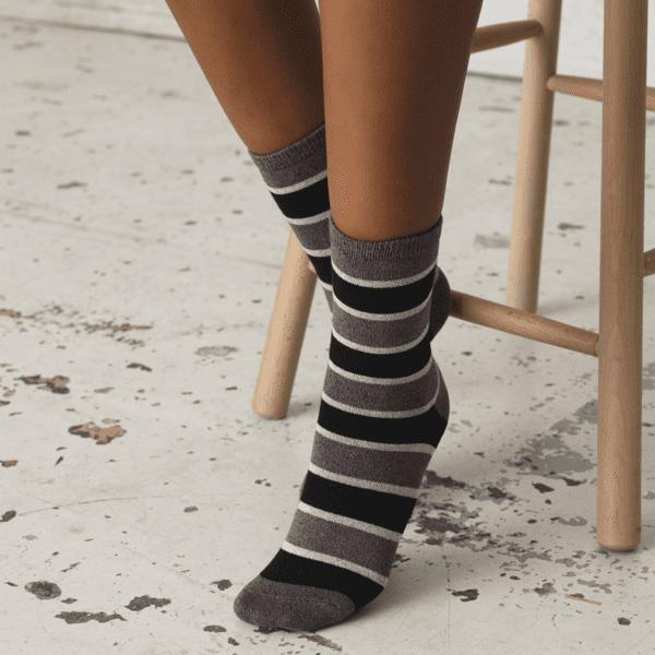 Beck Sondergaard Stripe lurex ankle socks