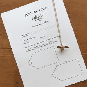Alex Monroe engraving event form