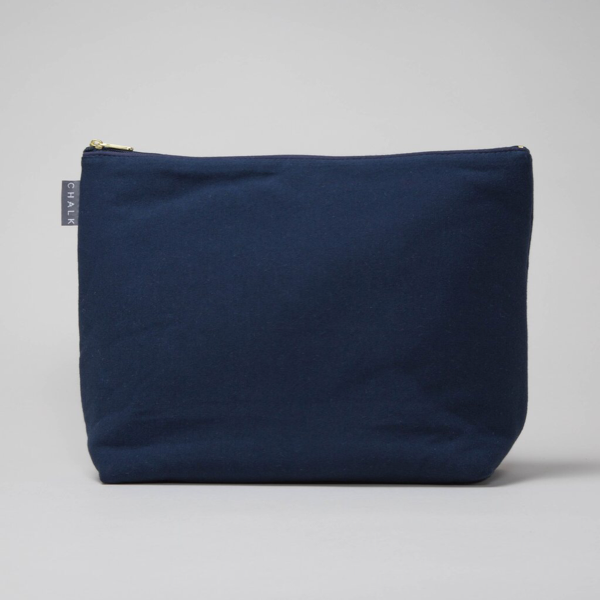 Cotton jersey washable washbag
